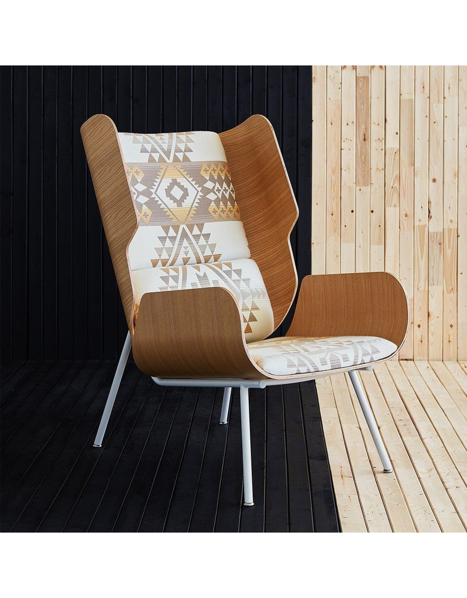 Gus* Modern Elk Chair, Pendleton Diamond Charcoal