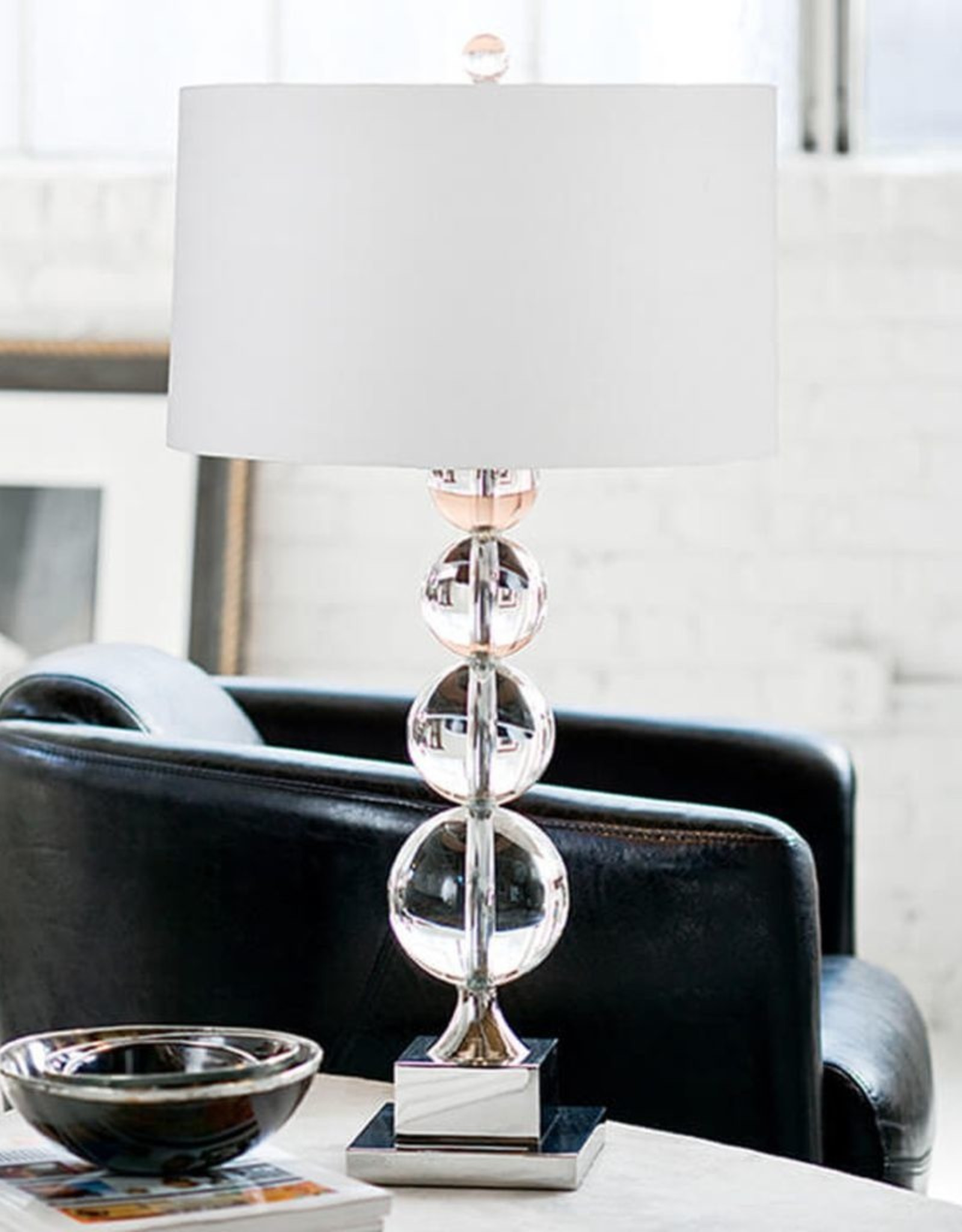 Regina Andrew Design Modern Stacked Crystal Sphere Table Lamp