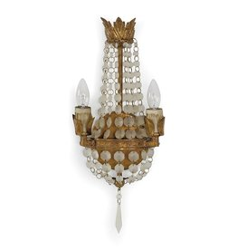 Regina Andrew Design Mini Vintage Sconce Frosted White