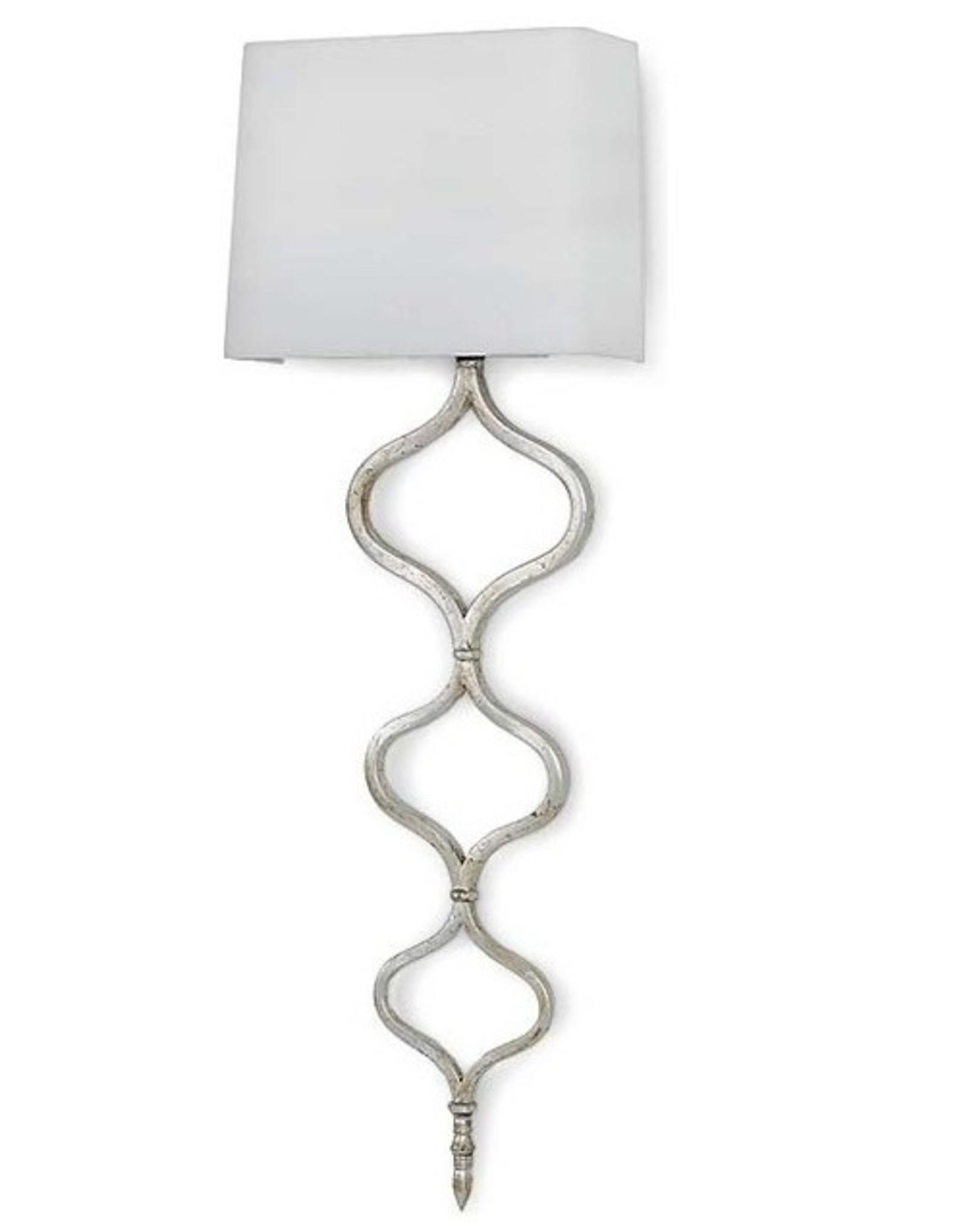 Regina Andrew Design Sinuous Metal Sconce Silver Leaf
