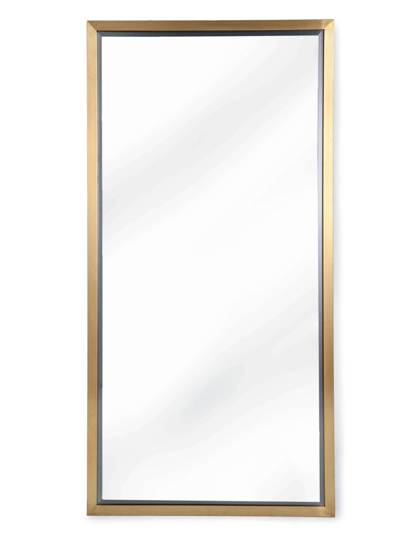 Regina Andrew Design Rectangle Brass Mirror