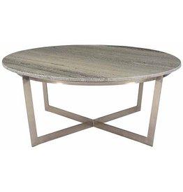 Dovetail Yazo Coffee Table - Nickel
