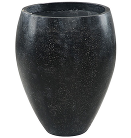 Dovetail Terrazzo Outdoor Pot - Black