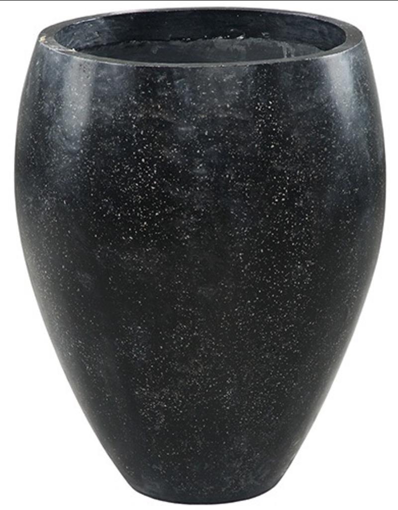 Dovetail Terrazzo Outdoor Pot - Black