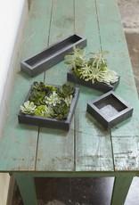 Accent Decor Carbon Box Planter 7x2.25