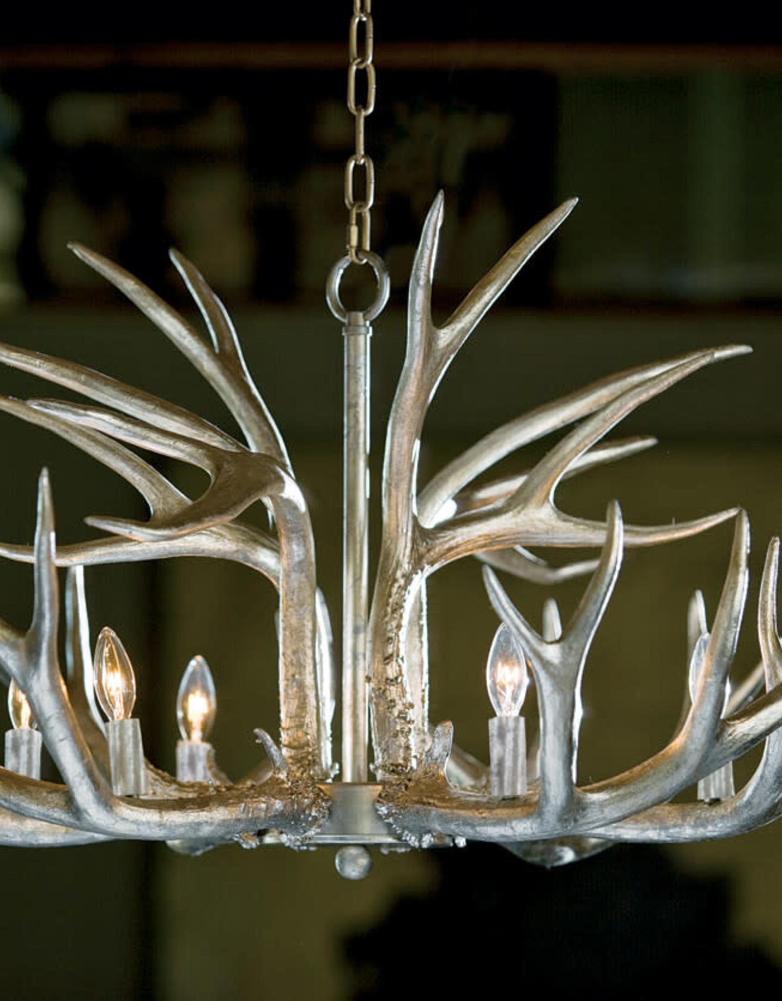 Regina Andrew Design Antler Chandelier (Ambered Silver Leaf)