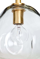 Regina Andrew Design Molten Pendant Small With Smoke Glass (Natural Brass)