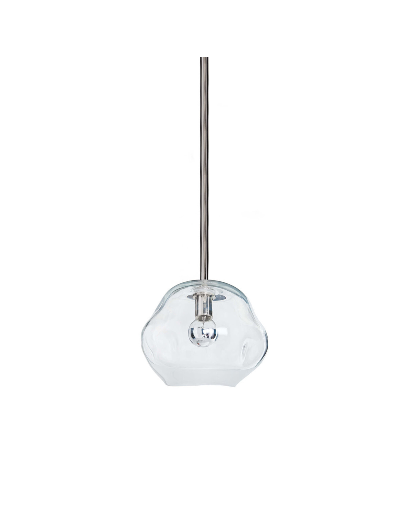 Regina Andrew Design Molten Pendant Small With Clear Glass (Polished Nickel)