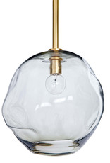 Regina Andrew Design Molten Pendant Large With Smoke Glass (Natural Brass)