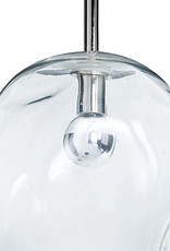 Regina Andrew Design Molten Pendant Large With Clear Glass (Polished Nickel)
