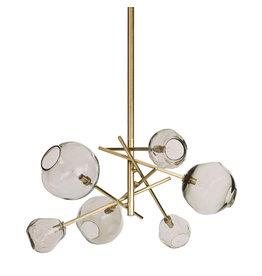 Regina Andrew Design Molten Chandelier With Smoke Glass (Natural Brass)
