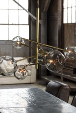 Regina Andrew Design Molten Chandelier With Smoke Glass (Natural Brass)