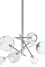Regina Andrew Design Molten Chandelier With Clear Glass (Polished Nickel)