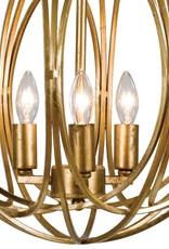 Regina Andrew Design Ofelia Chandelier Medium (Gold Leaf)