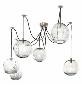 Regina Andrew Design Molten Spider Large With Clear Glass (Polished Nickel)