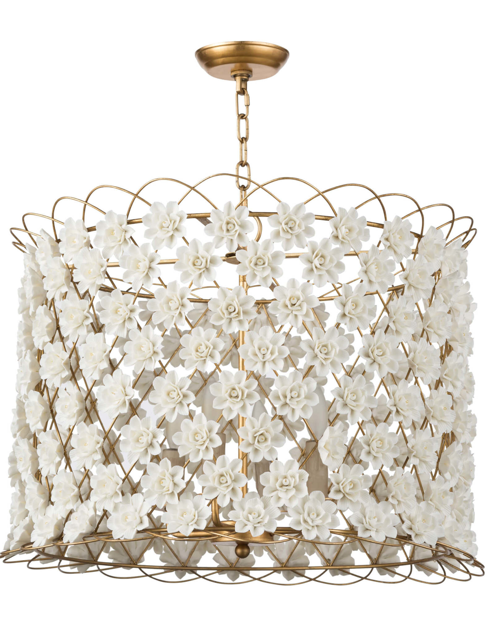 Regina Andrew Design Alice Porcelain Flower Chandelier