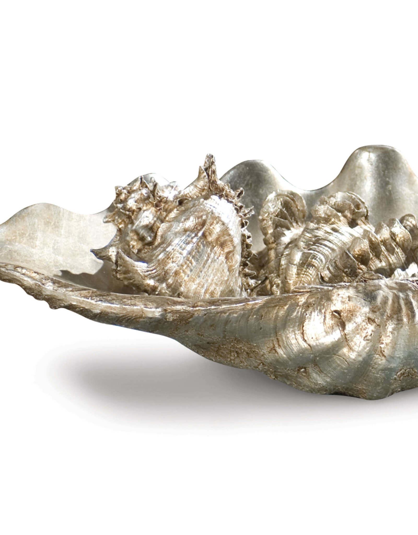 Regina Andrew Design Clam Shell Medium W/Small Shells (Silver)