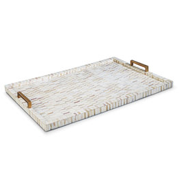 Regina Andrew Design Multi-Tone Bone & Brass Tray