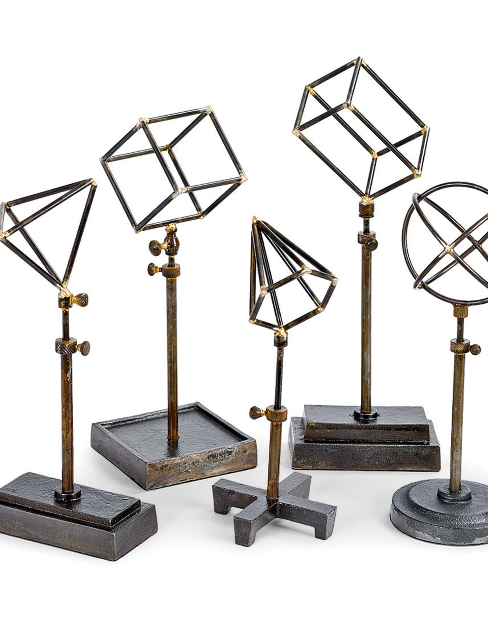 Regina Andrew Design Geometrical Shapes On Stand (Set of 5)