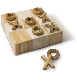 Regina Andrew Design Tic Tac Toe Flat Board With Brass Pieces