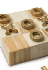 Regina Andrew Design Tic Tac Toe Flat Board With Brass Pieces