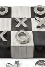 Regina Andrew Design Tic Tac Toe Flat Board With Nickel Pieces