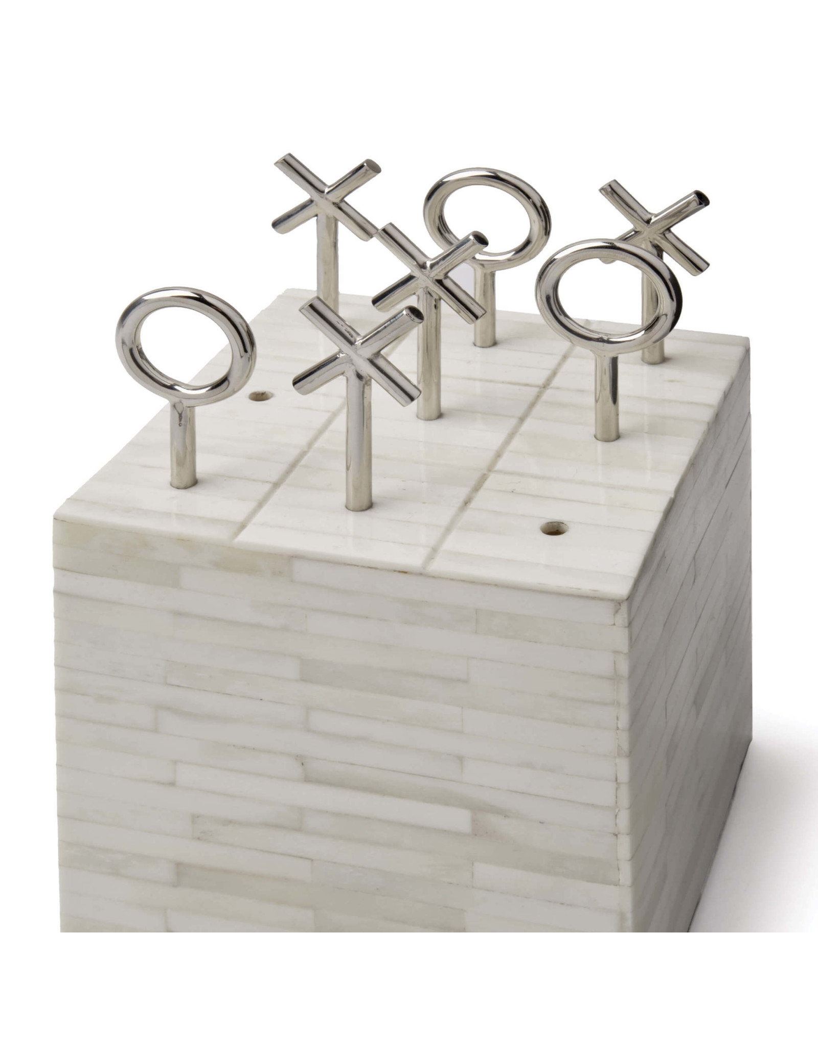 Regina Andrew Design Tic Tac Toe Block (White Bone)