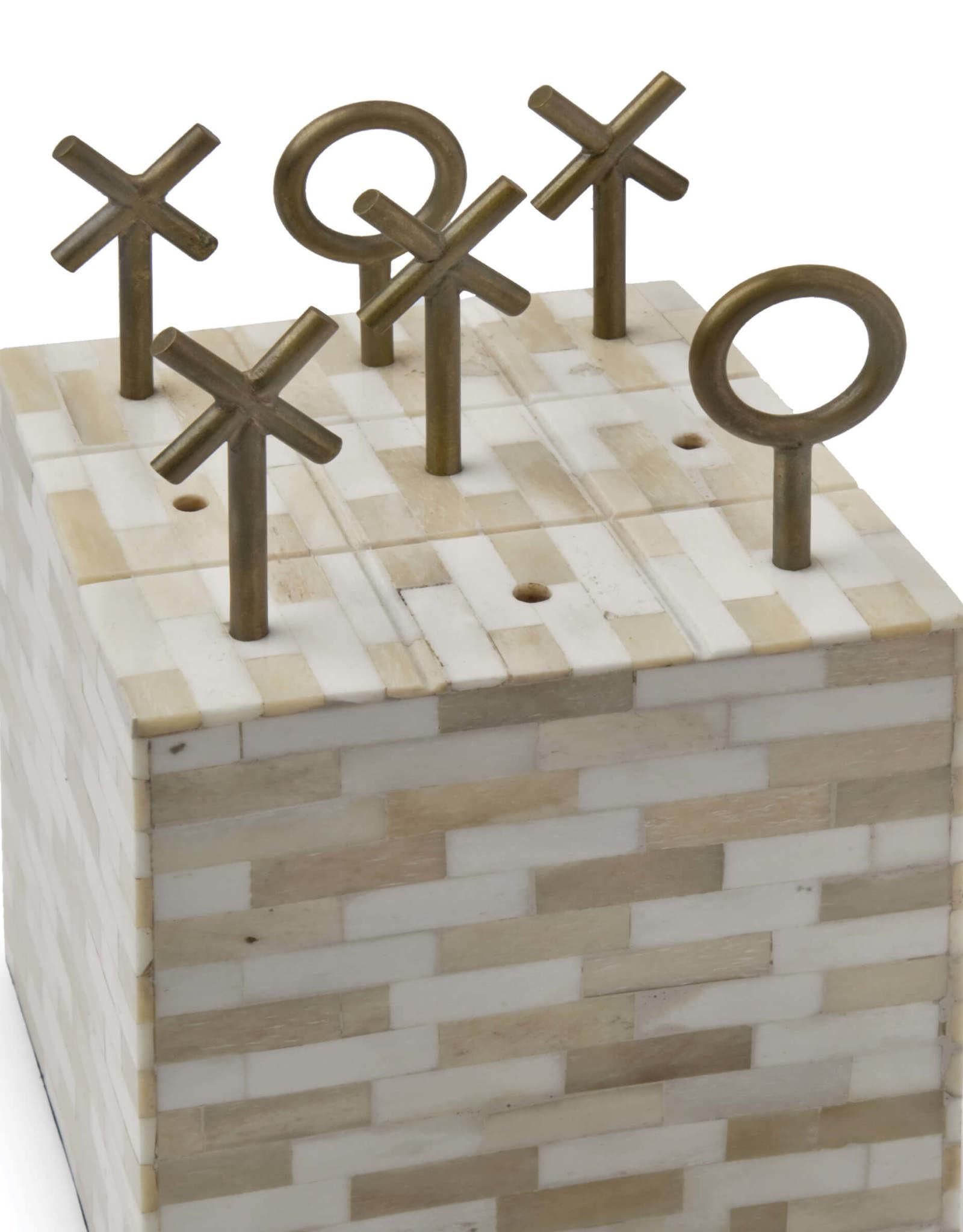 Regina Andrew Design Tic Tac Toe Block (Multi-Tone Bone)