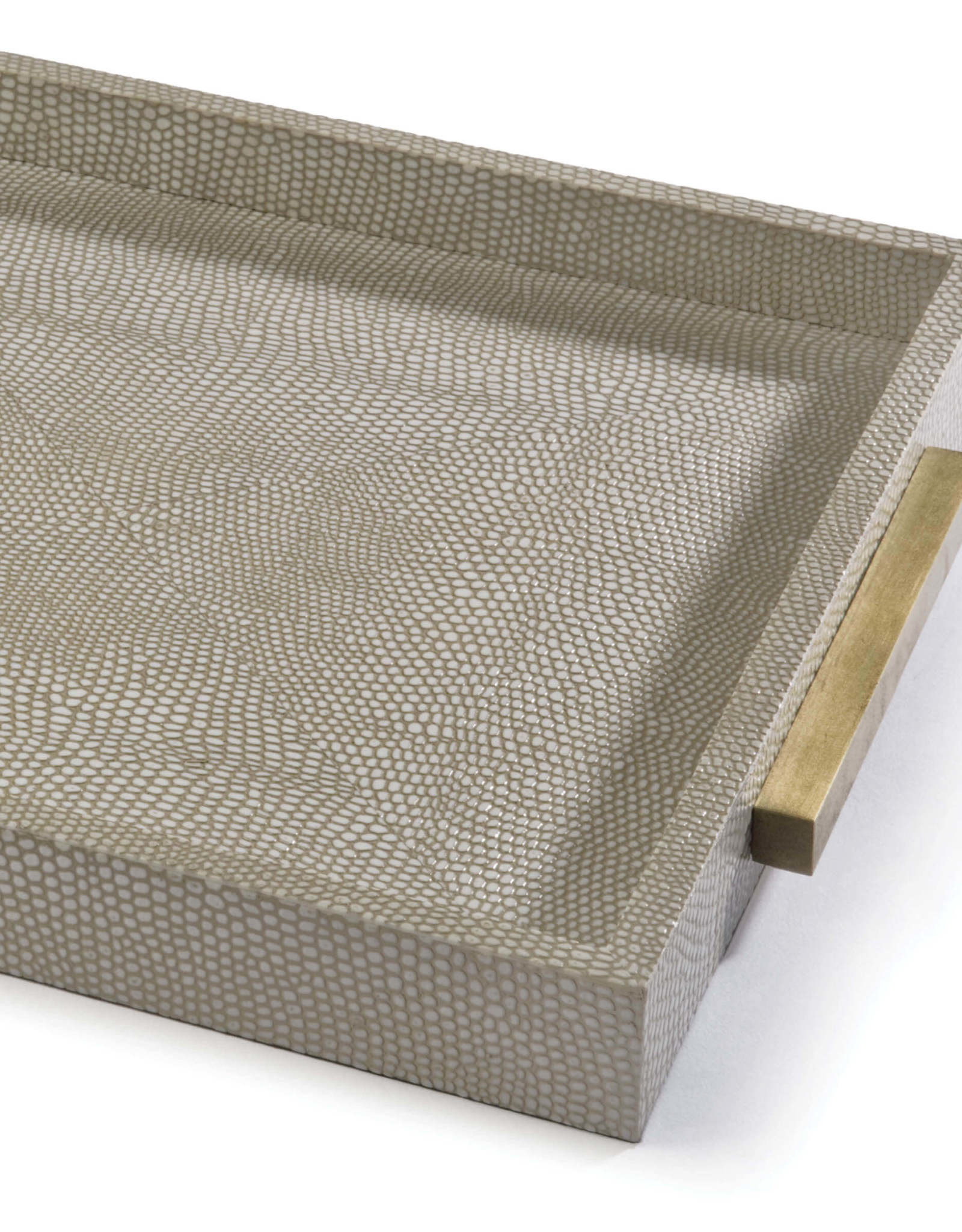 Regina Andrew Design Square Shagreen Boutique Tray (Ivory Grey Python)