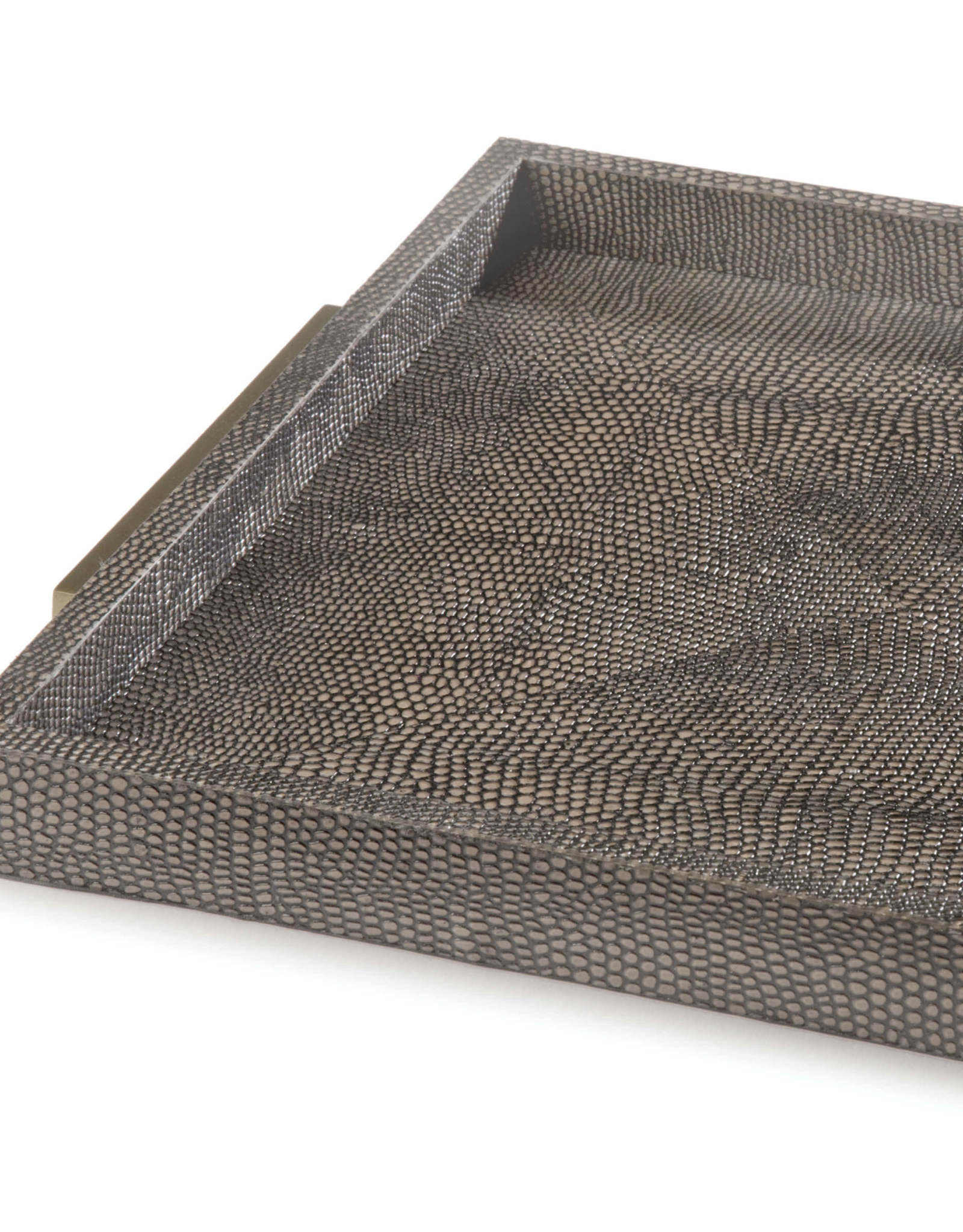 Regina Andrew Design Square Shagreen Boutique Tray (Vintage Brown Snake)