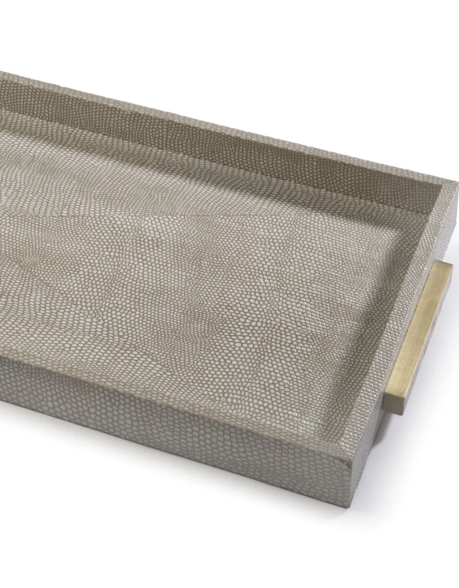 Regina Andrew Design Rectangle Shagreen Boutique Tray (Ivory Grey Python)