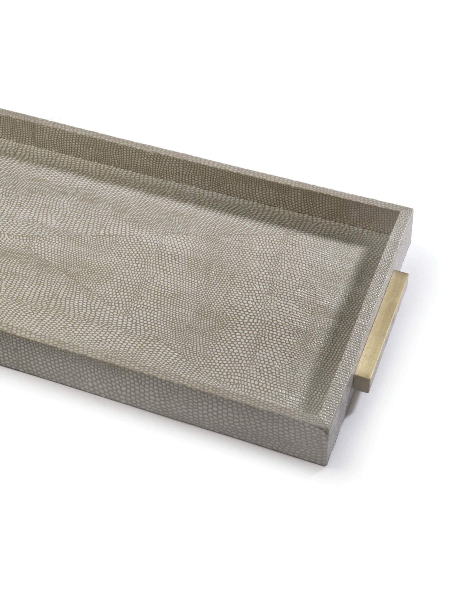 Regina Andrew Design Rectangle Shagreen Boutique Tray (Ivory Grey Python)