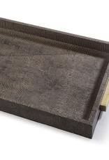 Regina Andrew Design Rectangle Shagreen Boutique Tray (Vintage Brown Snake)