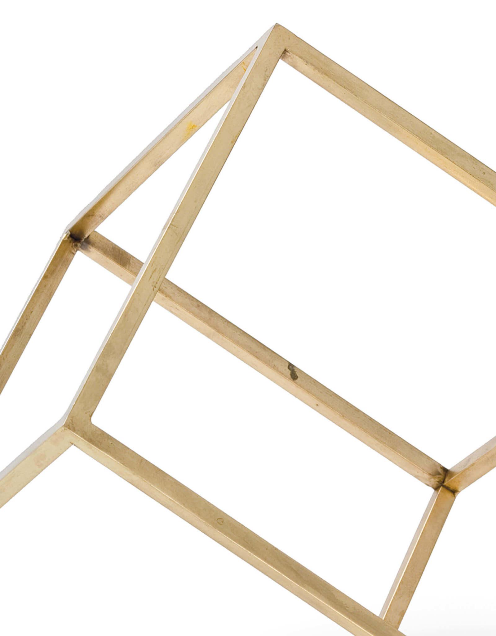 Regina Andrew Design Open Standing Cube (Brass)
