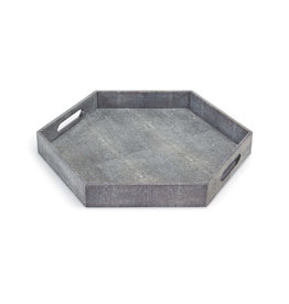 Regina Andrew Design Shagreen Hex Tray (Charcoal)