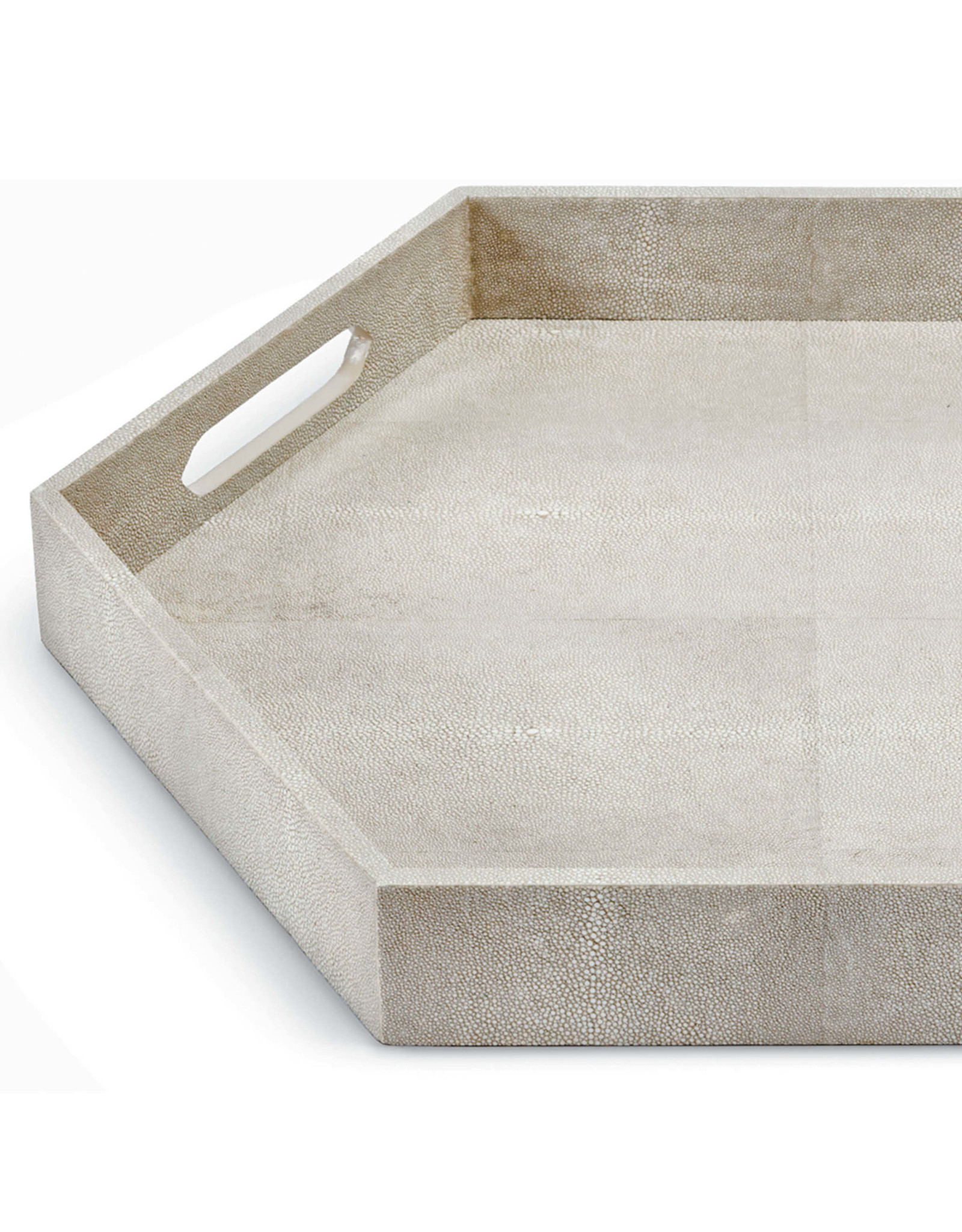 Regina Andrew Design Shagreen Hex Tray (Ivory Grey)