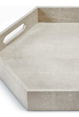 Regina Andrew Design Shagreen Hex Tray (Ivory Grey)