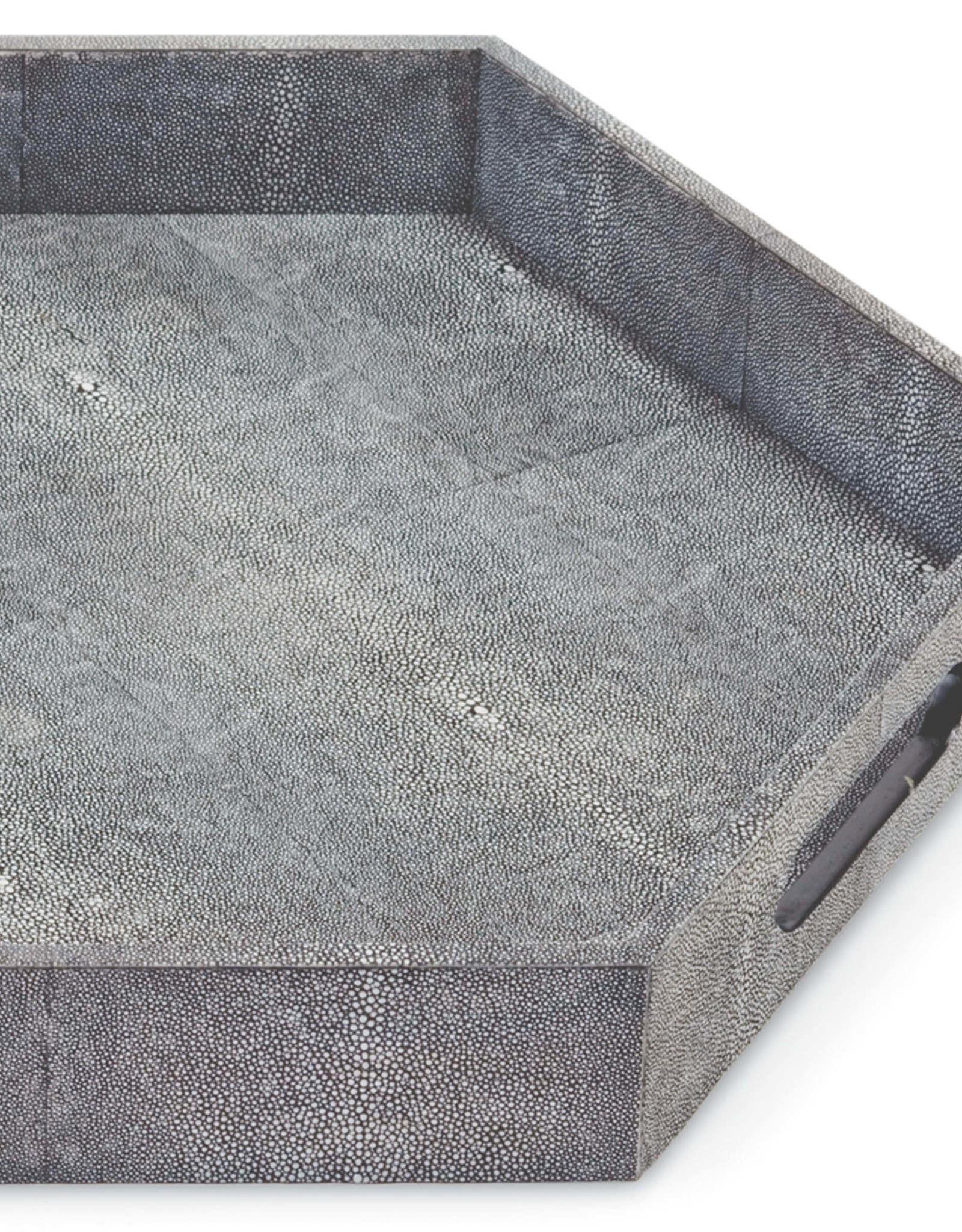 Regina Andrew Design Shagreen Hex Tray (Charcoal)