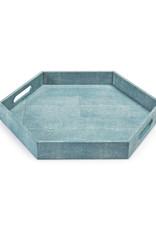 Regina Andrew Design Shagreen Hex Tray (Turquoise)