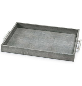 Regina Andrew Design Shagreen Rectangle Tray (Charcoal Grey)