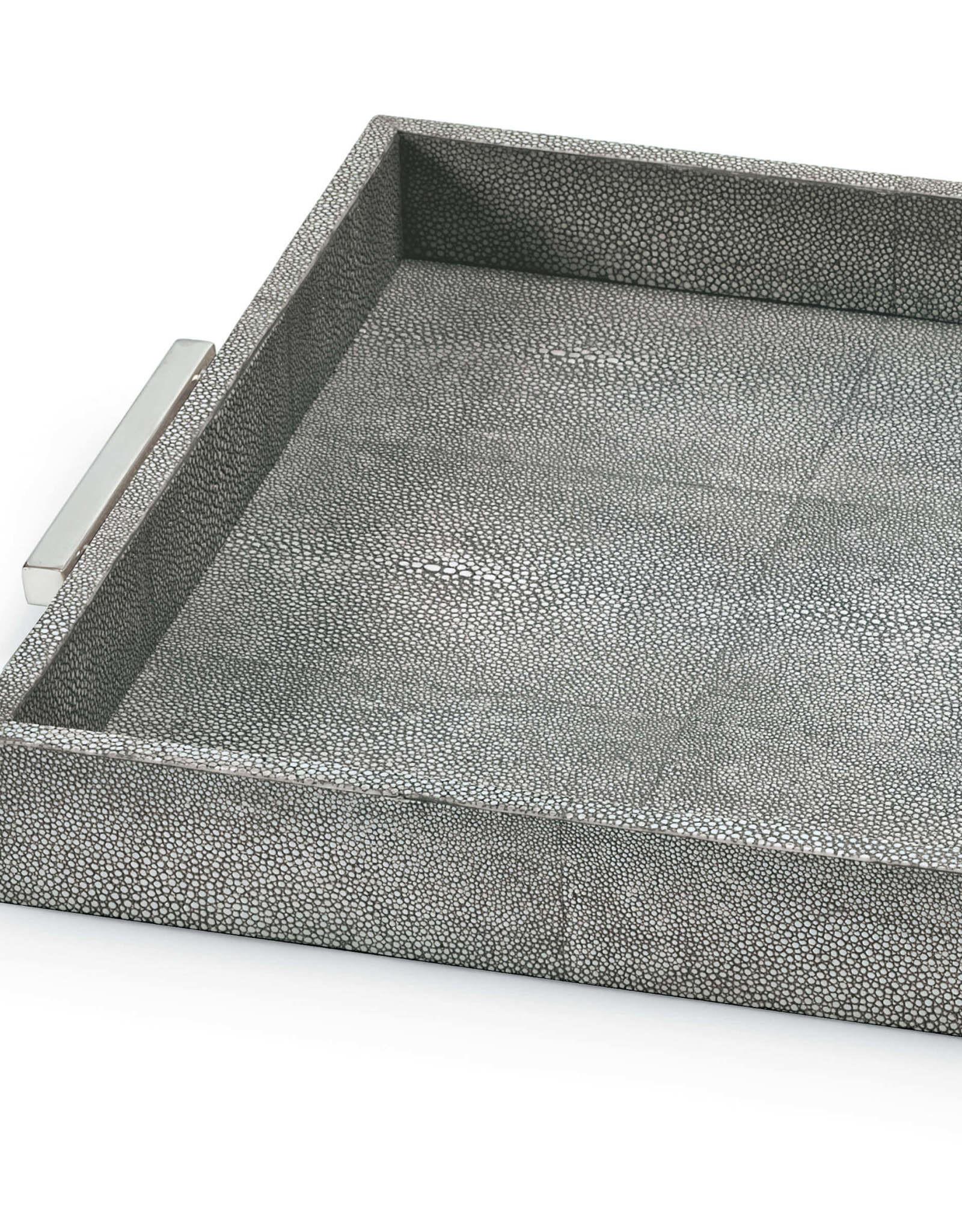 Regina Andrew Design Shagreen Rectangle Tray (Charcoal Grey)