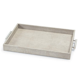 Regina Andrew Design Shagreen Rectangle Tray (Ivory Grey)