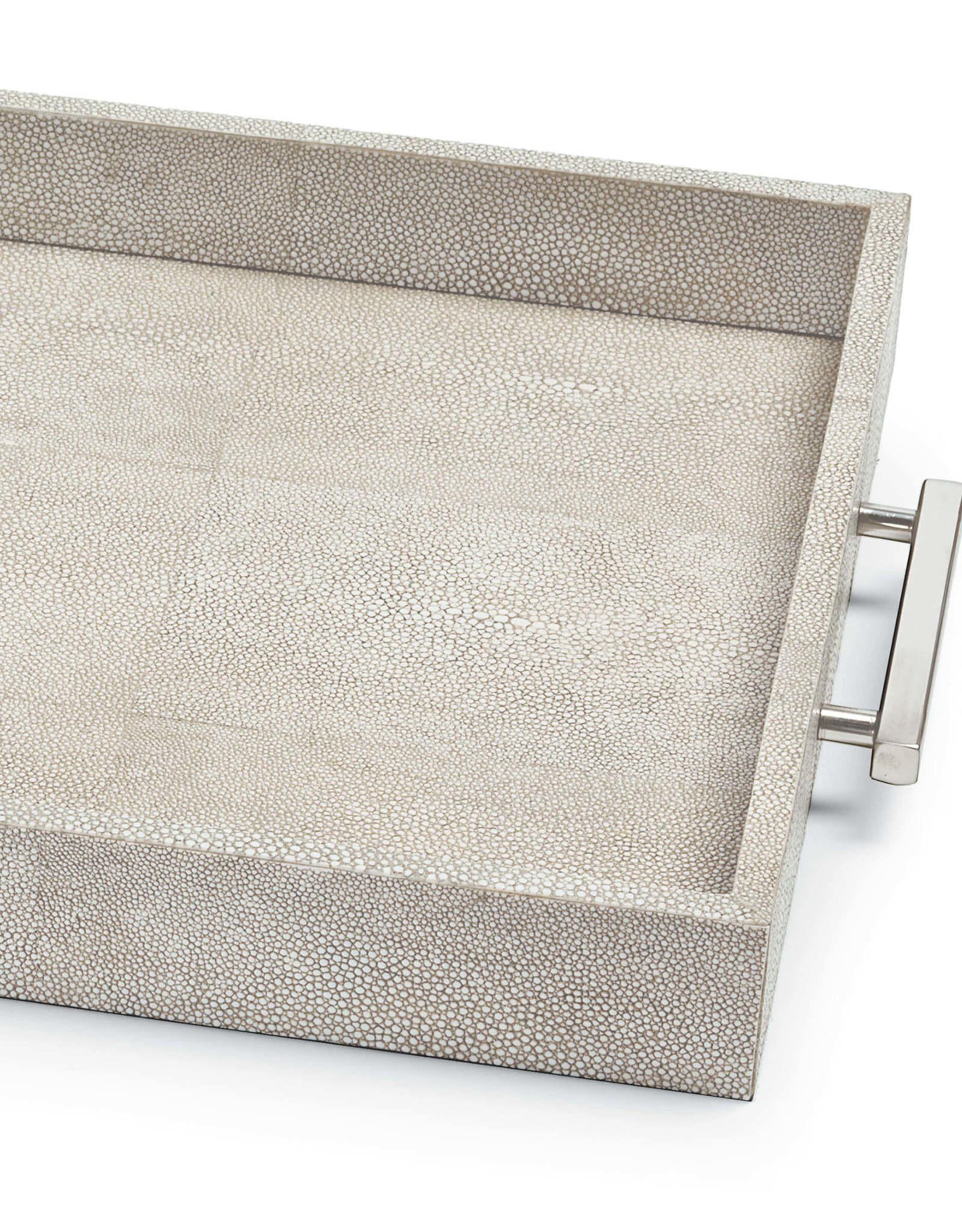 Regina Andrew Design Shagreen Rectangle Tray (Ivory Grey)