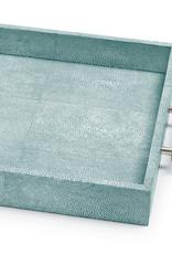 Regina Andrew Design Shagreen Rectangle Tray (Turquoise)