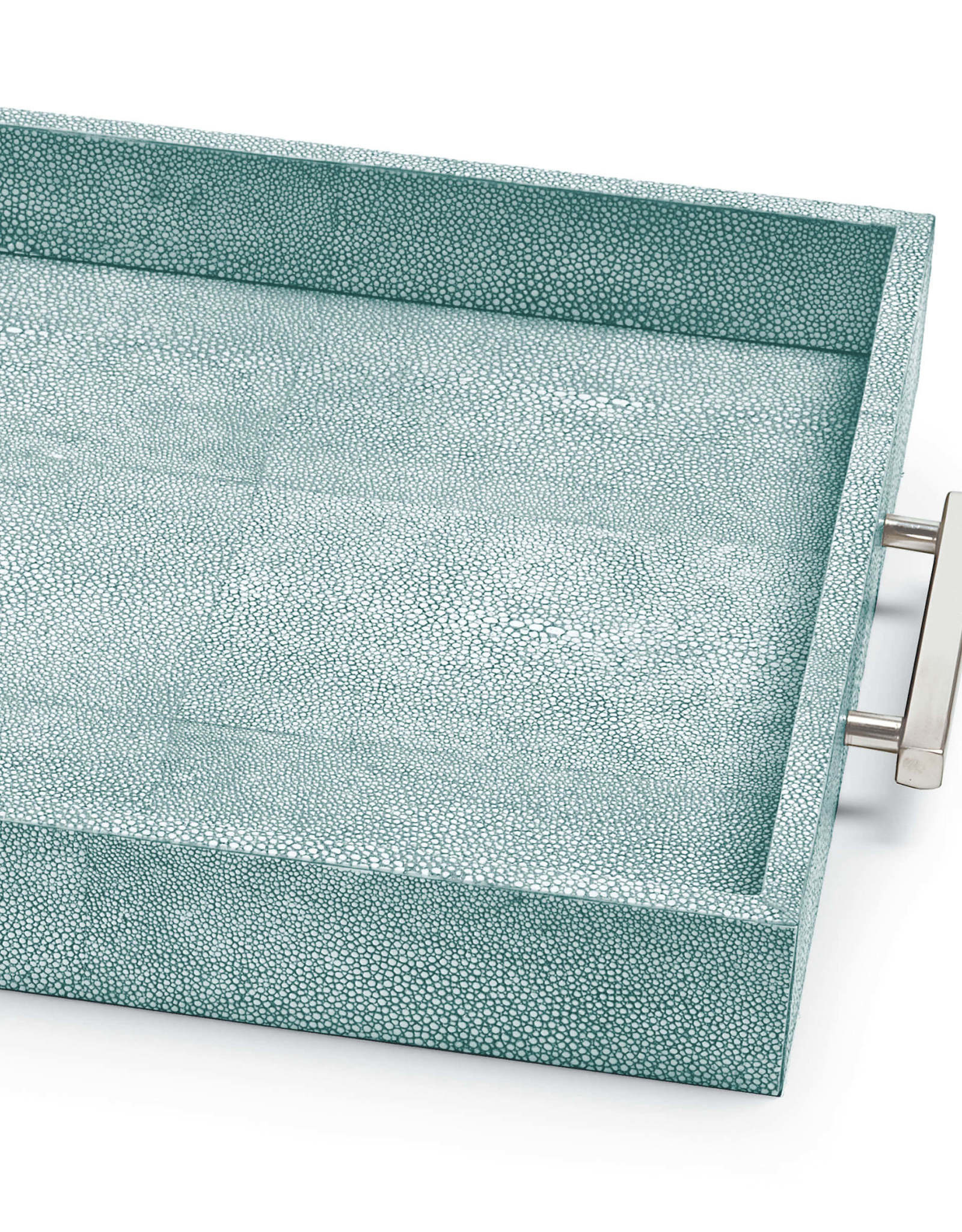 Regina Andrew Design Shagreen Rectangle Tray (Turquoise)