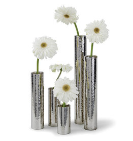 Regina Andrew Design Hammered Bud Vase Set (Polished Nickel)
