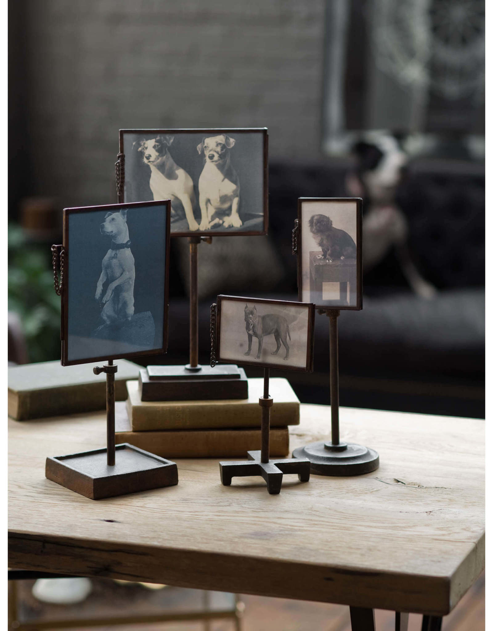 Regina Andrew Design Vintage Metal Photo Holders (Set of 4)