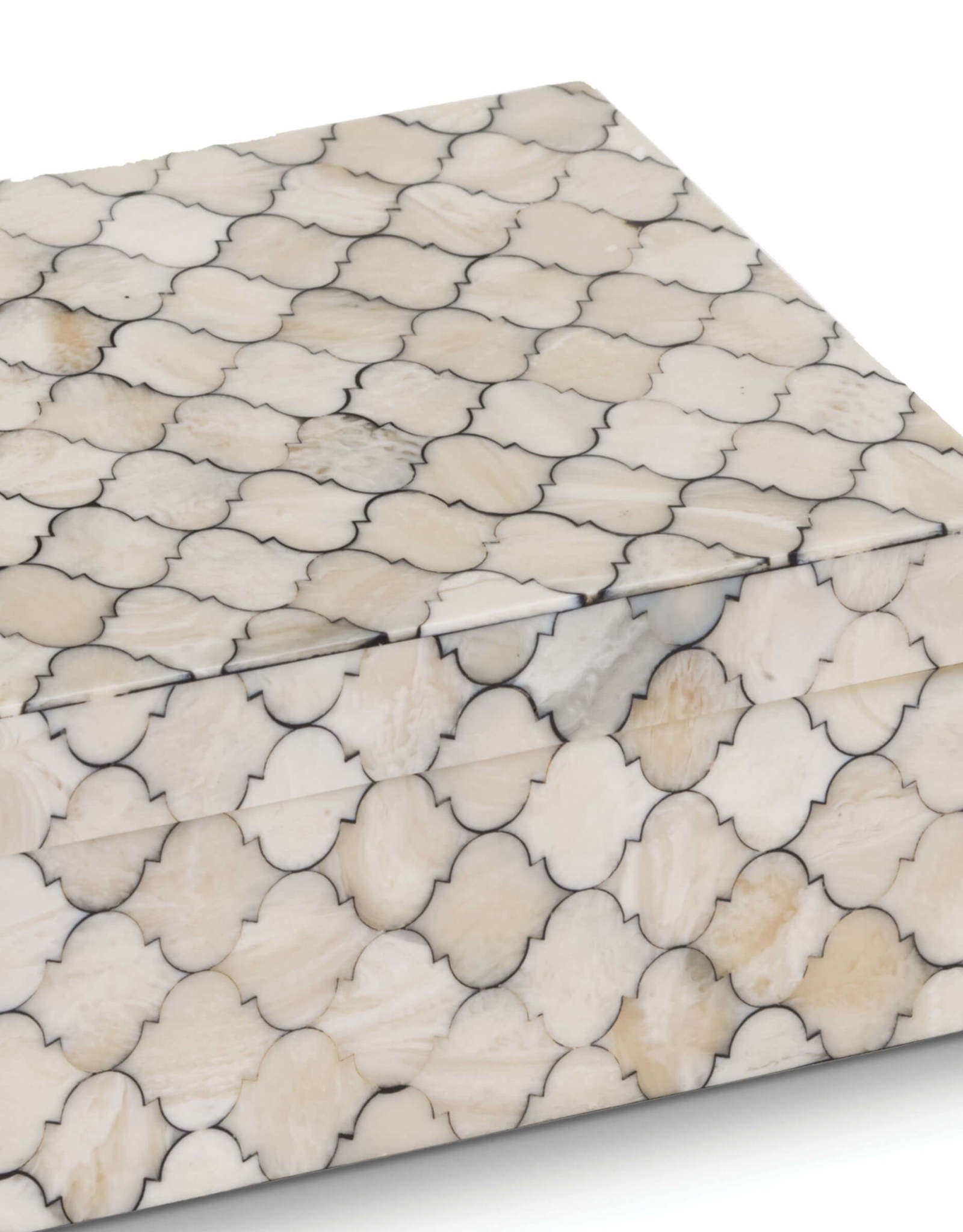 Regina Andrew Design Mosaic Quatrefoil Box Large