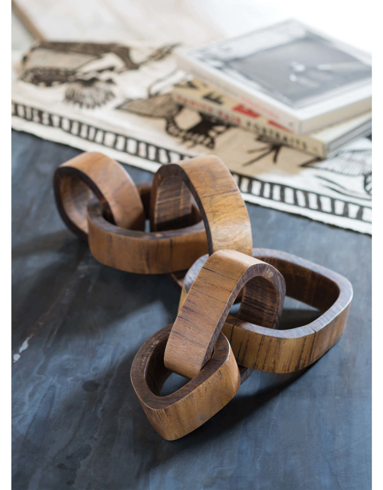 Regina Andrew Design Wooden Links Centerpiece