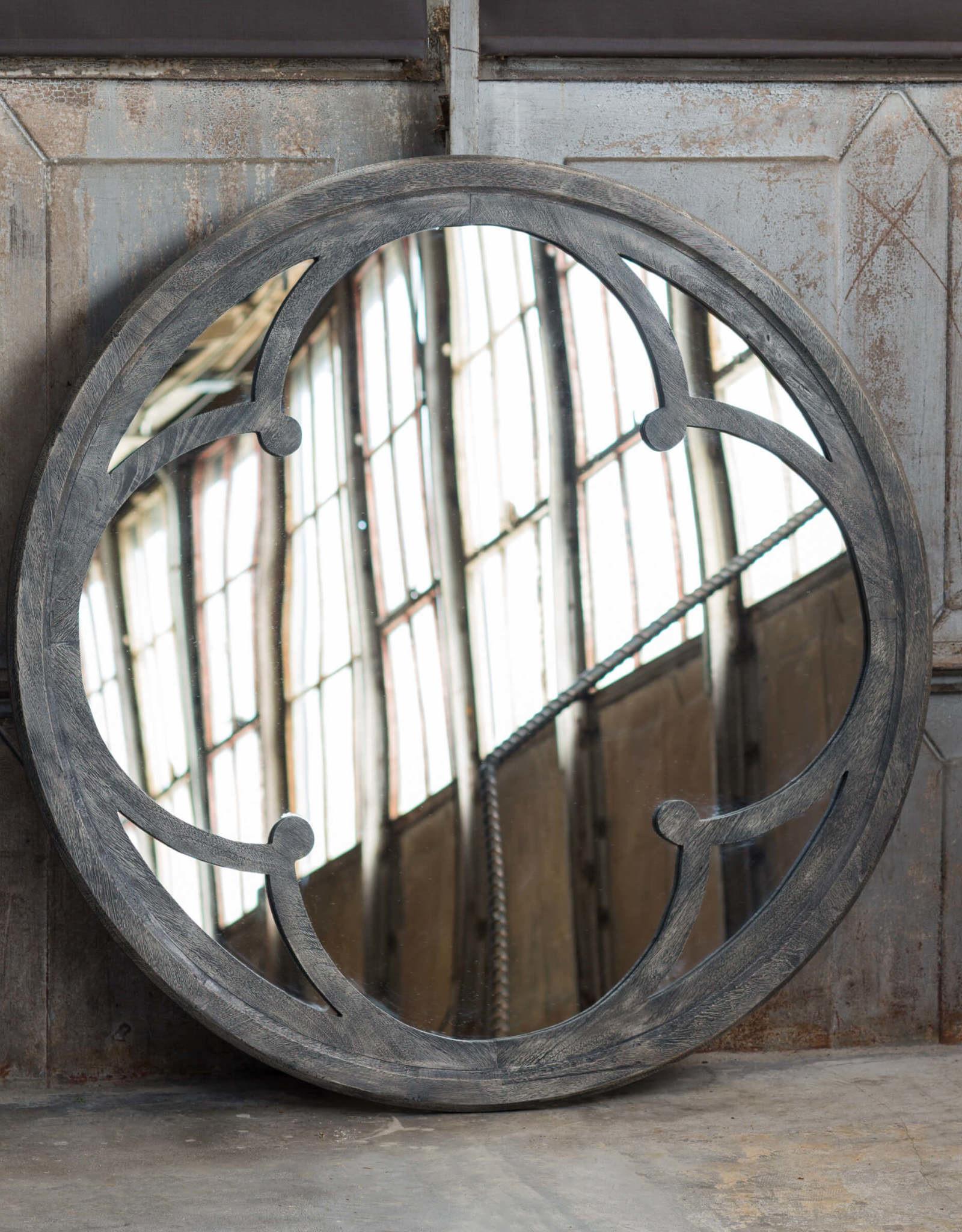 Regina Andrew Design Raymond Quatrefoil Mirror (Grey)